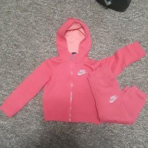 Nike sweat suit pink